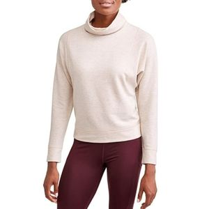 AVIA Oatmeal Athletic Cowlneck Pullover Sweatshirt